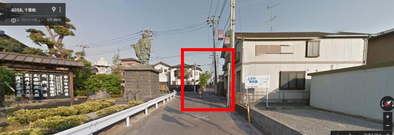 法華経寺を右に行った小道